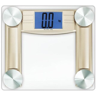 Cook N Home Digital Bathroom Scale with Smart Step-on Technology and Measure Tape