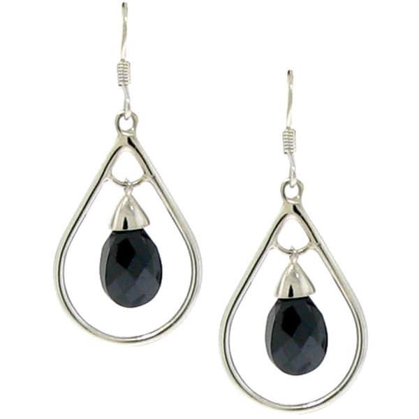 Gioelli Sterling Silver Cubic Zirconia Tear Drop Dangle Earrings