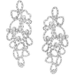 Gioelli Sterling Silver Cubic Zirconia Abstract Dangle Earrings