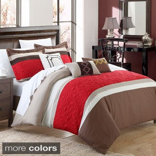 Chic Home Carla 10-piece Embroidered Comforter and Sheet Set