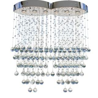 6-light Chrome Crystal Rain Chandelier
