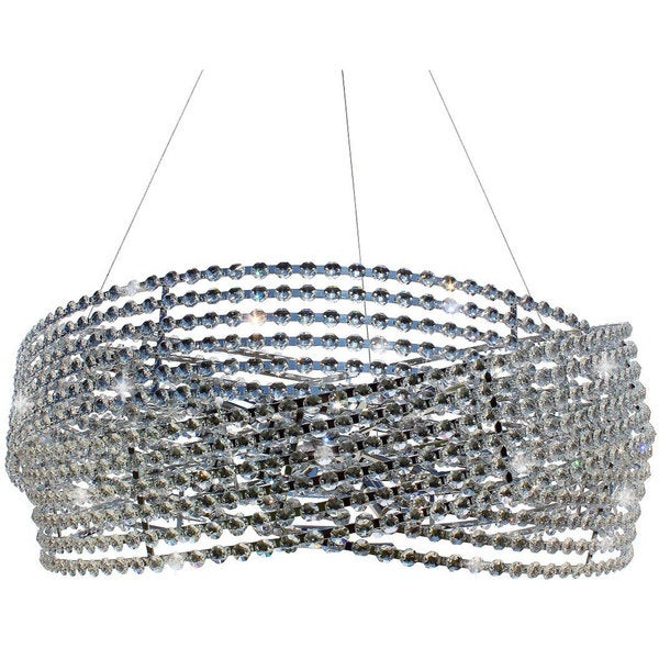 3-ring Chrome Diamante Crystal Chandelier