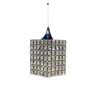 Grace Square 1-light Faceted Crystal and Chrome Mini Chandelier