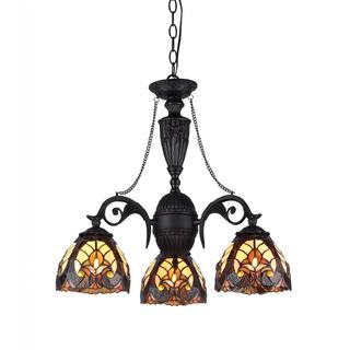Tiffany Style Victorian Design 3-light Chandelier
