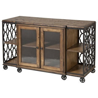 Jane Rae Wood and Metal Console Table
