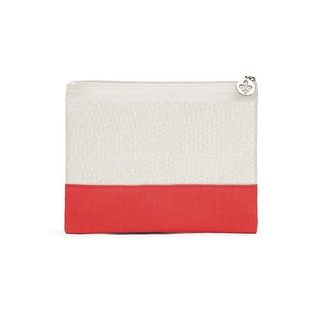 Red Large Colorblock Zip Pouch