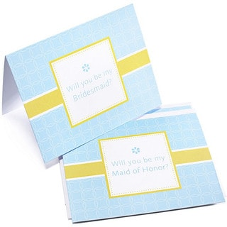 Blue Dot 'Will You Be My Bridesmaid' Cards