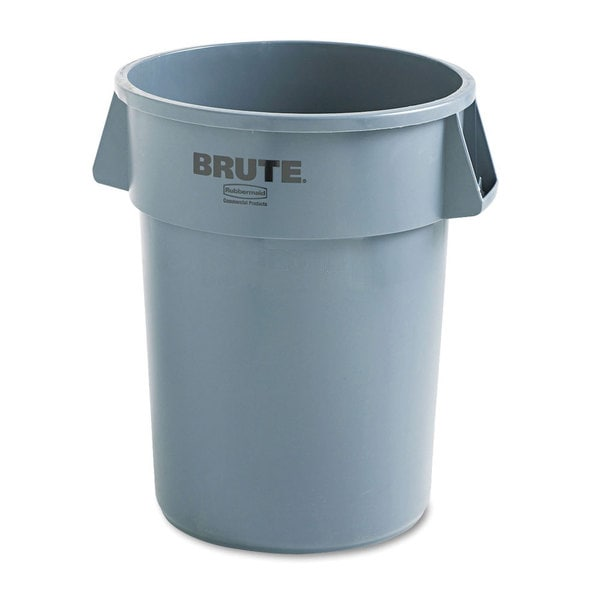 Rubbermaid Grey Round Commercial Brute Refuse Container