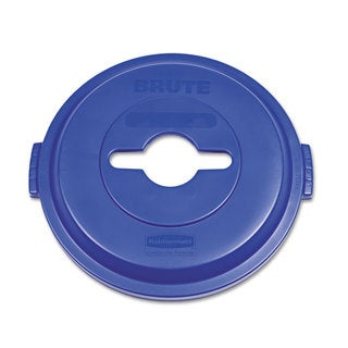 Rubbermaid Commercial Blue Single Stream Recycling Top for Brute 32-gallon Containers