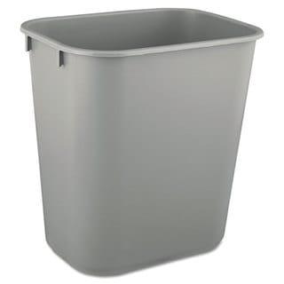 Rubbermaid Commercial Grey Deskside Plastic 3.5-gallon Wastebasket