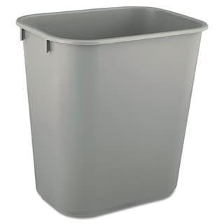 Rubbermaid Commercial Grey Deskside Plastic 3.5-gal Wastebasket