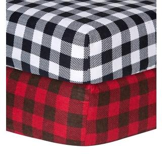 Trend Lab Checkered Flannel Crib Sheet