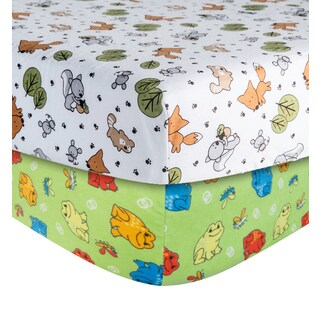 Trend Lab Animal Print Flannel Crib Sheet (2 Pack)
