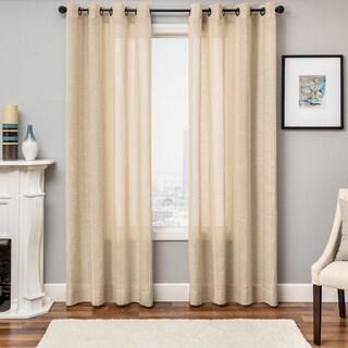 Northridge Faux Linen Grommet Top Curtain Panel