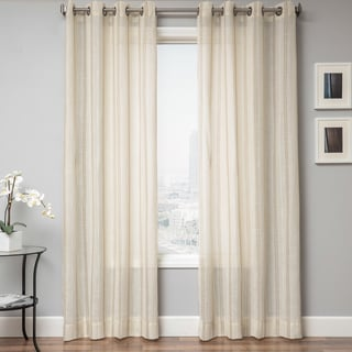 Stambridge Faux Linen Grommet Top Curtain Panel