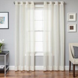 Oakridge Faux Linen Grommet Top Curtain Panel