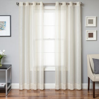 Stonebridge Faux Linen Grommet Top Curtain Panel