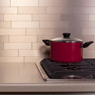 Aspect Champagne Peel and Stick Tiles (6 square feet)
