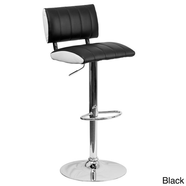 Contemporary Black and White Vinyl Adjustable Bar Stool  : 2 Pk Contemporary Two Tone Black White Vinyl Adjustable Height Bar Stool with Chrome Base a49e8784 3944 482e bdaa 3d25e424e586600 from www.overstock.com size 600 x 600 jpeg 25kB