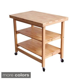 Oasis Concepts All-wood Extra Large Folding Kitchen Island