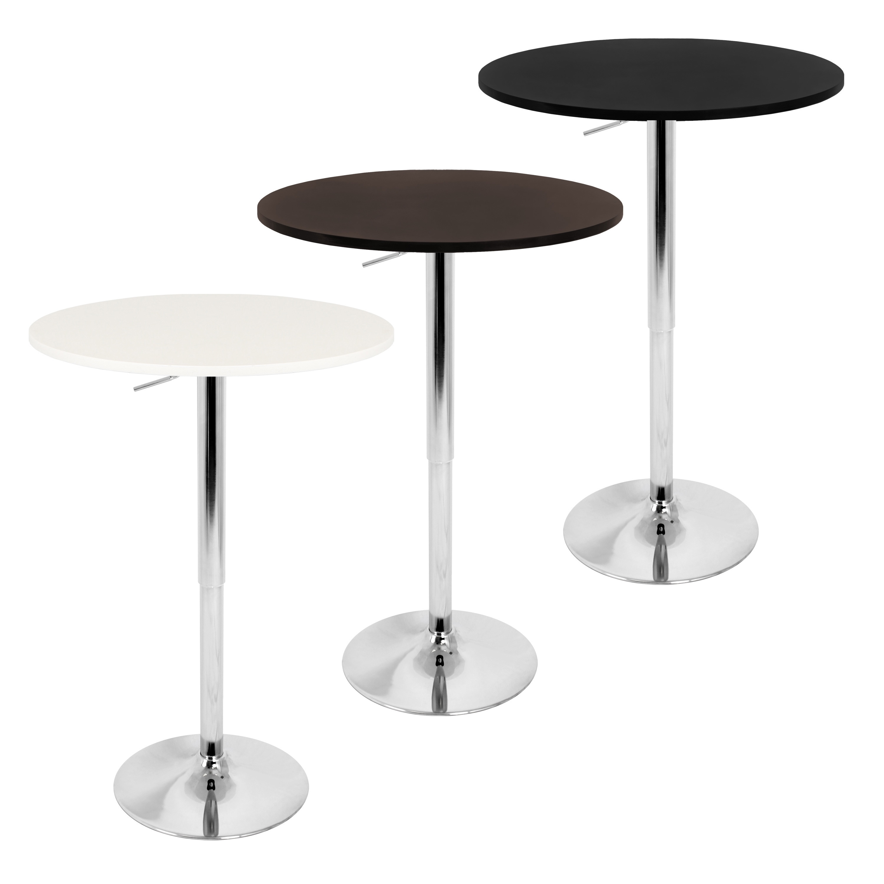 Lumisource 23 Inch Wood Top Adjustable Bar Table