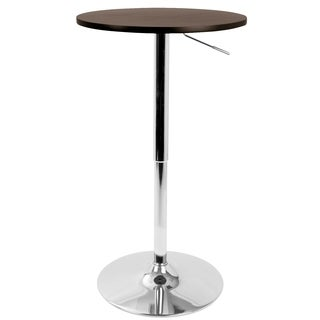 LumiSource 23-inch Wood Top Adjustable Bar Table