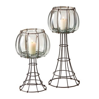 Wire and Glass Votive Holder (Set of 2)