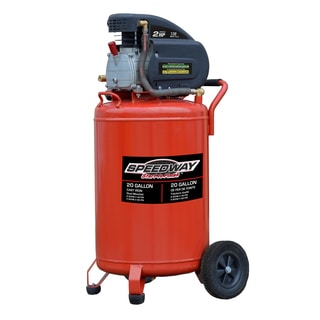 Speedway 20-gallon Vertical Upright Air Compressor with Wheels