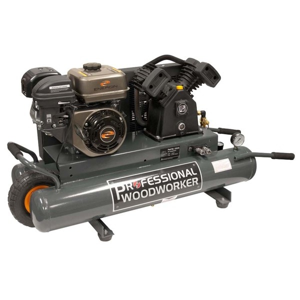 Professional Woodworker 9-gallon Gas wheelbarrow Air Compressor