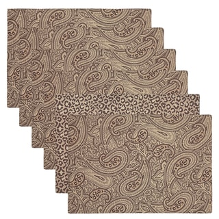 Safari Fever Reversible Paisley and Animal Print Placemats (Set of 6)