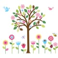 Giant Flower Tree and Garden Peel-and-Stick Kid's Wall Decal