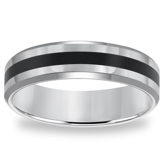 Cambridge 6mm Classic Tungsten Carbide Black Resin Inlay Comfort Fit Band