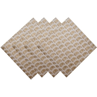 Set of 4 Gold Khari Napkins (India)