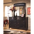 Ashley Signature Design Harmony Espresso Dresser and Mirror