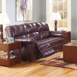 Signature Designs by Ashley Kennard Burgundy Leather Reclining Sofa