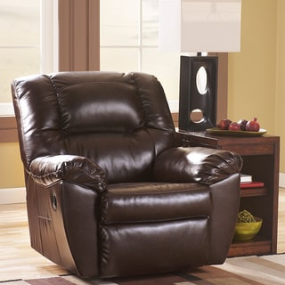 Signature Design by Ashley Rouge DuraBlend Mahogany Power Rocker Recliner