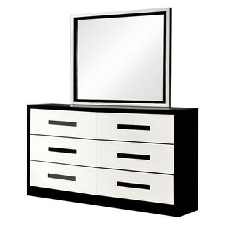 Furniture of America Seleness Contemporary Duo-tone 2-piece Dresser and Mirror Set