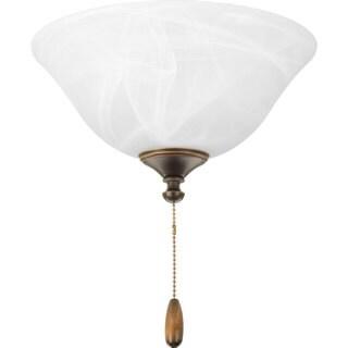 Progress Lighting 2-light Universal Fan Light Kit w/ Alabaster Bowl