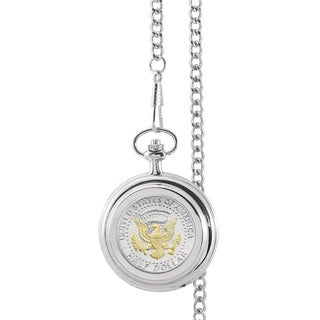 American Coin Treasures Selectively Gold-Layered Presidential Seal Half Dollar Pocket Watch