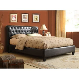 Espresso Brown Tufted Upholstered Bed