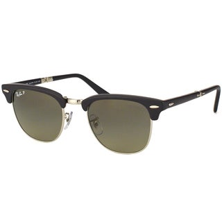 Ray Ban Unisex 'Clubmaster RB2176 901SM8' Foldable Polarized Sunglasses