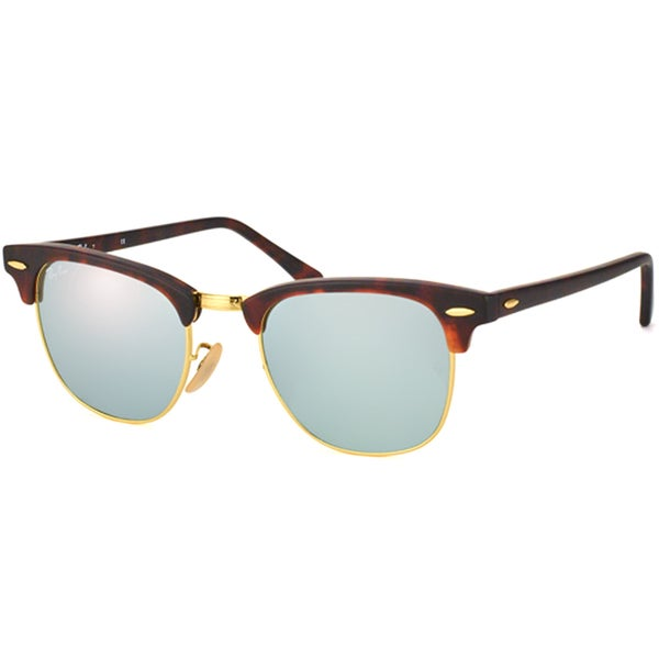 Ray-Ban Unisex Clubmaster RB3016 114530 Round Sunglasses ...