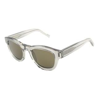 Saint Laurent Unisex 'SL Bold 2 HXM' Round Sunglasses