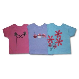 Toddler Girls Graphic T-shirt Set (Pack of 3)
