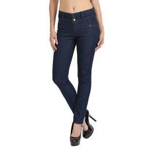 Stanzino Women's High Waist Blue Denim Skinny Jeans