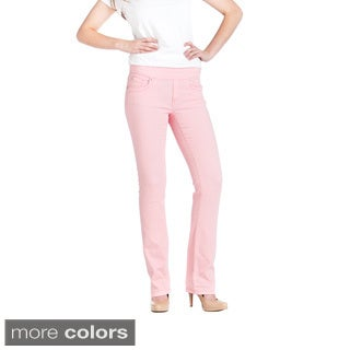 Bluberry Women's Solid Colour Denim Straight Cut Jeans