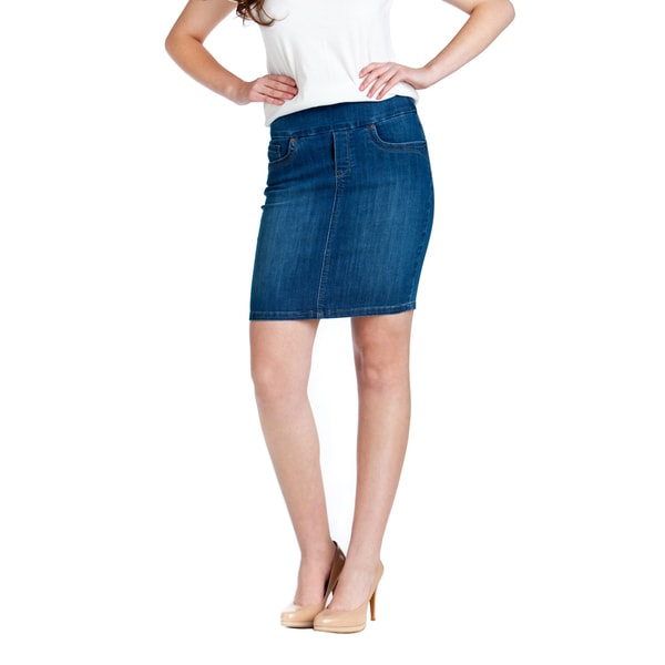 Bluberry Women's Pencil-cut Denim Skirt