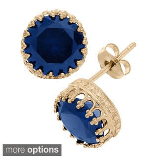 Gioelli 10k Gold 8mm Gemstone Earrings