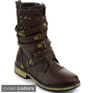 Forever Women's 'Alisa-3' Combat Style Mid-calf Boots