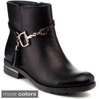 Reneeze Women's 'Kay-01' Side Tassel Ankle Boots